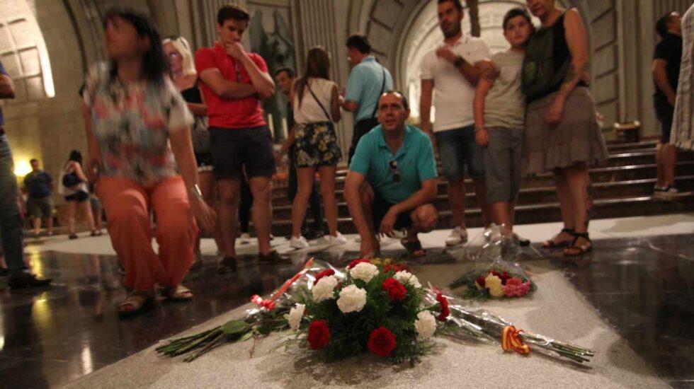 Tumba de Franco en la basílíca del Valle de los Caídos.