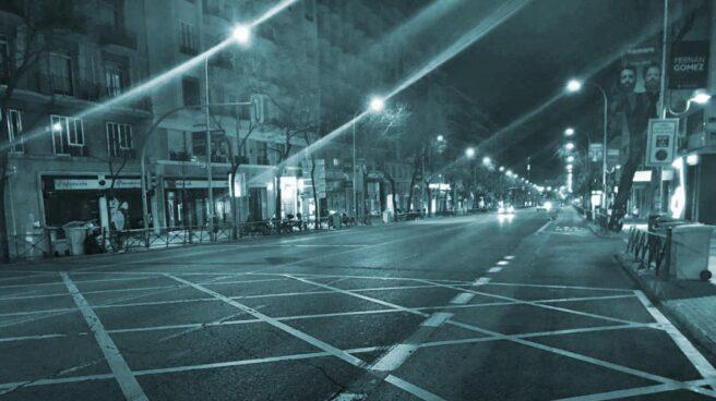 Huelga de taxis: vacía la calle de Alcalá.