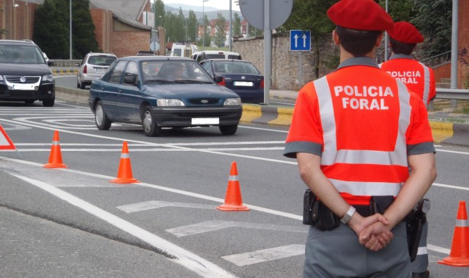 Imagen de archivo de efectivos de la Policía Foral de Navarra.