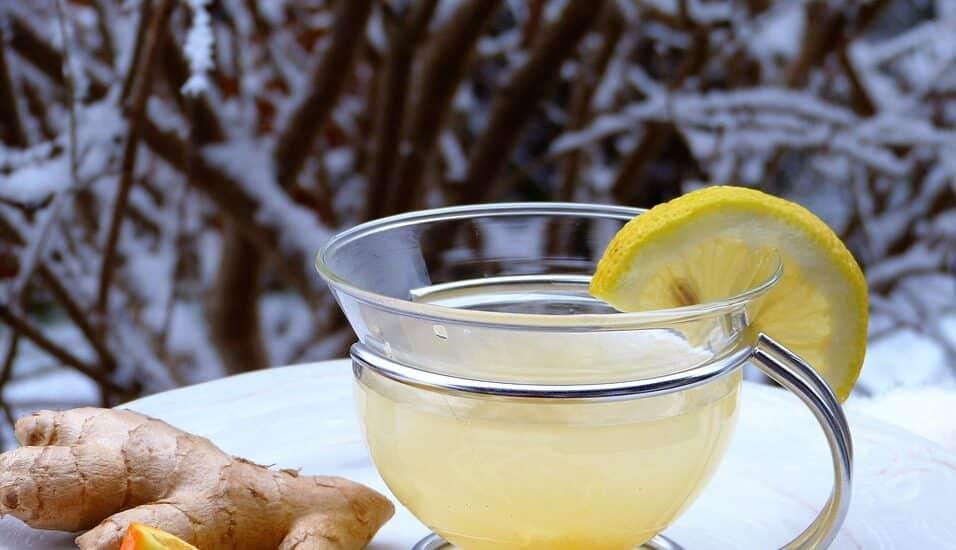 Infusión de jengibre y limón.