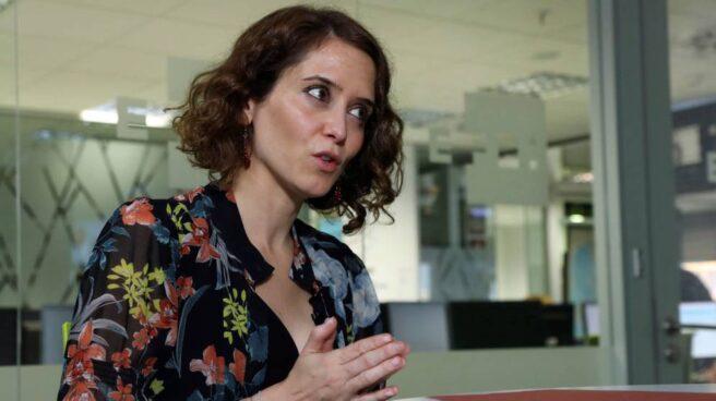 La secretaria de comunicación del PP, Isabel Díaz Ayuso. .