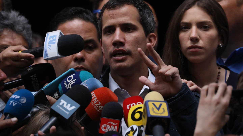 Juan Gujaidó, presidente interino de Venezuela, en Caracas.