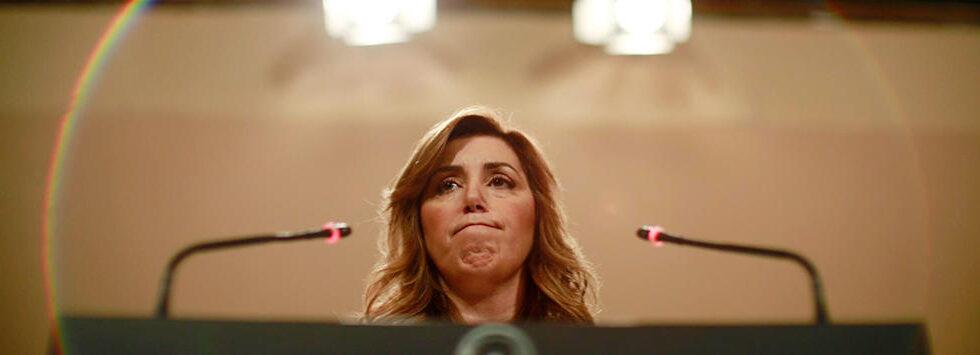 La aún presidenta en funciones de la Junta de Andalucía, Susana Díaz.