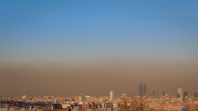 Contaminación en Madrid.