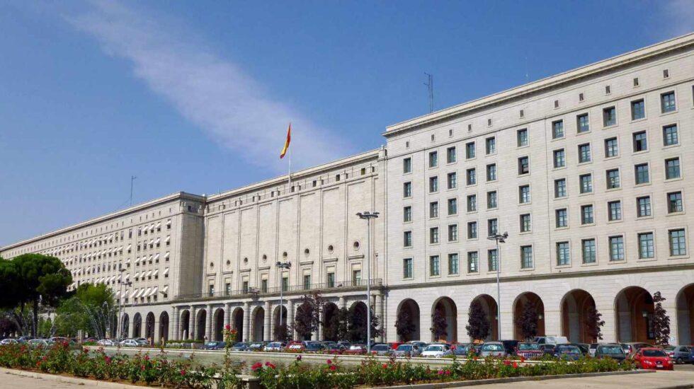 Edificios oficiales en la sede de Nuevos Ministerios, en Madrid.