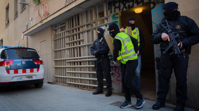 Operación de los Mossos contra el yihadismo en Barcelona.