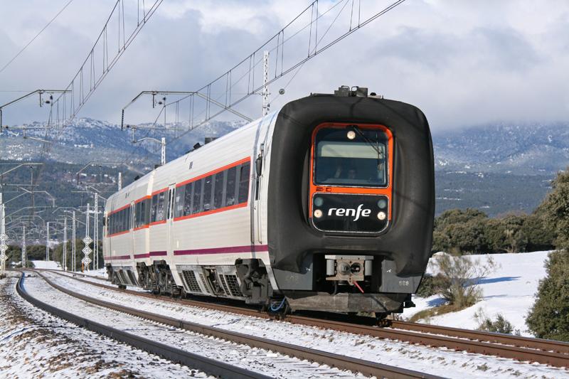Tren de composición única de la Serie 594 de Renfe o TRD.