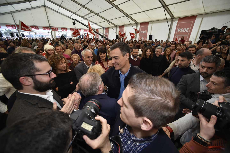 Pedro Sánchez, en un acto en Murcia.