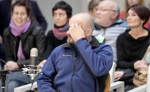 El preso de ETA, Sergio Polo, durante el juicio celebrado contra él en la Audiencia Nacional el pasado mes de marzo.