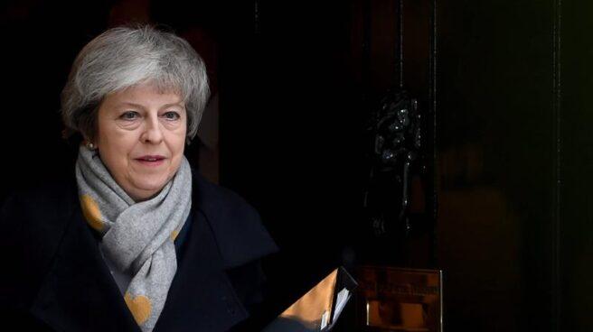 La primera ministra británica, Theresa May, en la jornada crucial del Brexit.