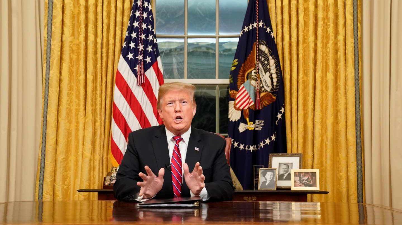 El presidente de EEUU, Donald Trump, en el Despacho Oval.