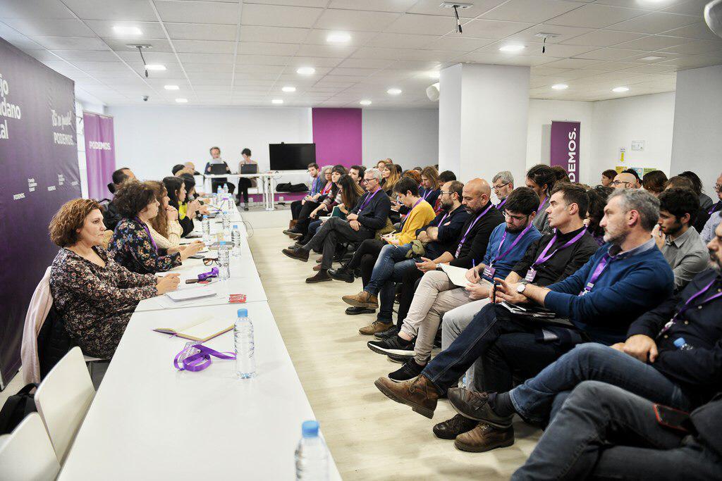 Un momento de la reunión del Consejo Ciudadano de Podemos.
