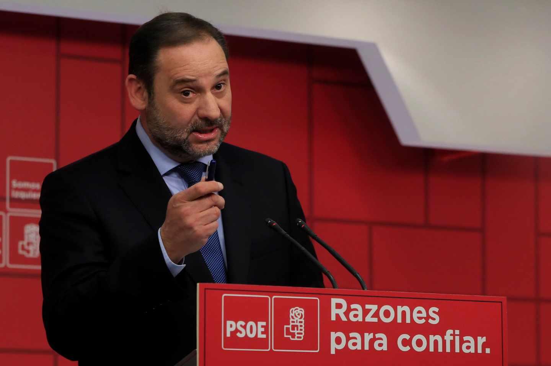 José Luis Ábalos, en la sede de Ferraz.