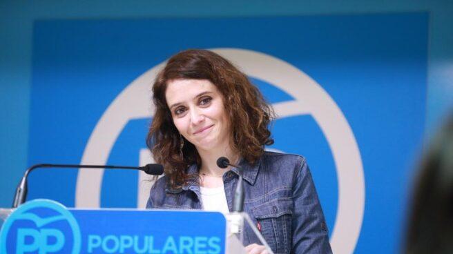 La secretaria de comunicación del PP, Isabel Díaz Ayuso.