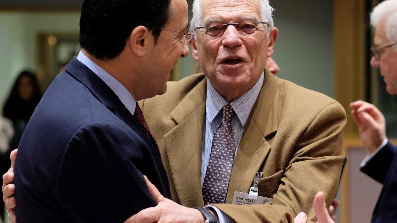El ministro de Exteriores Josep Borrell, en Bruselas.