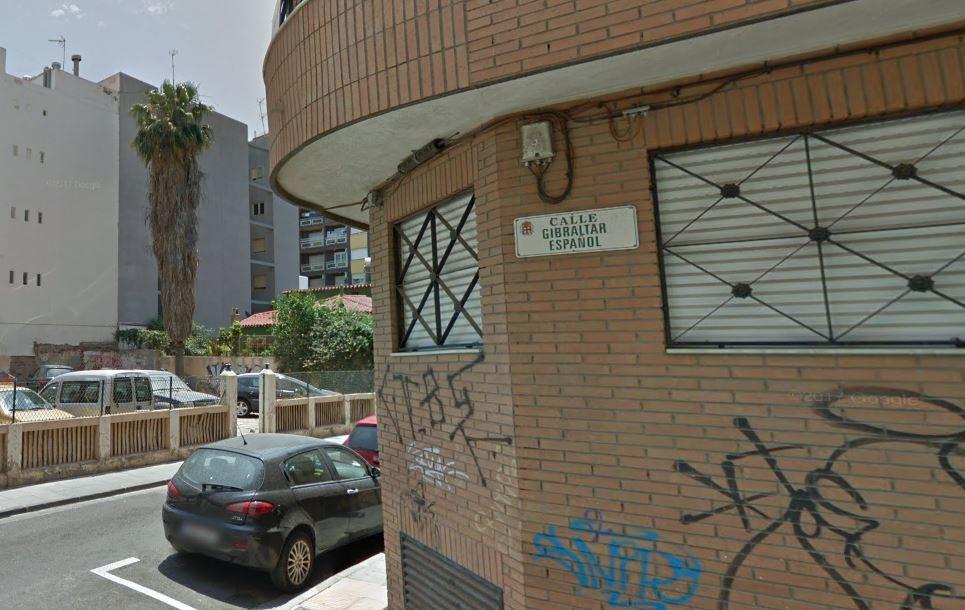 Calle Gibraltar Español, en Almería.