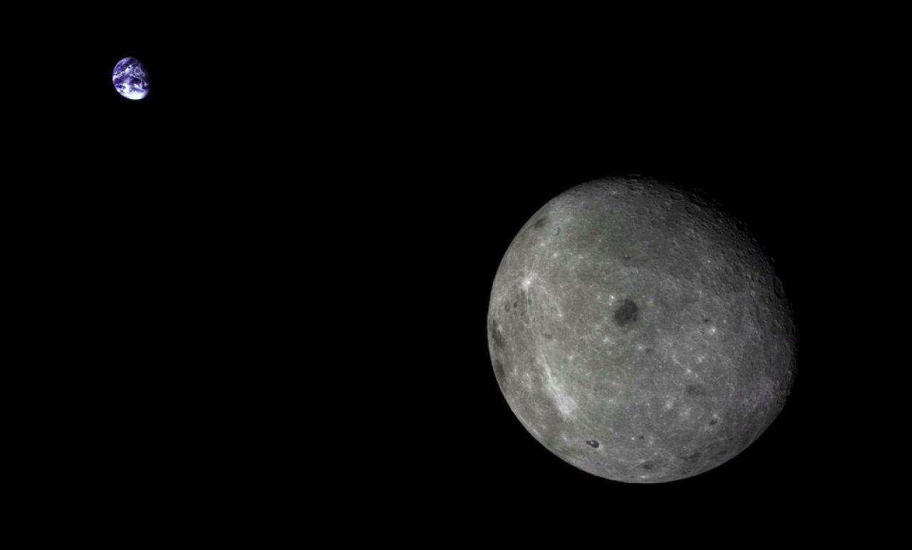 La cara oculta de la Luna vista por el satélite Chang'e-T5