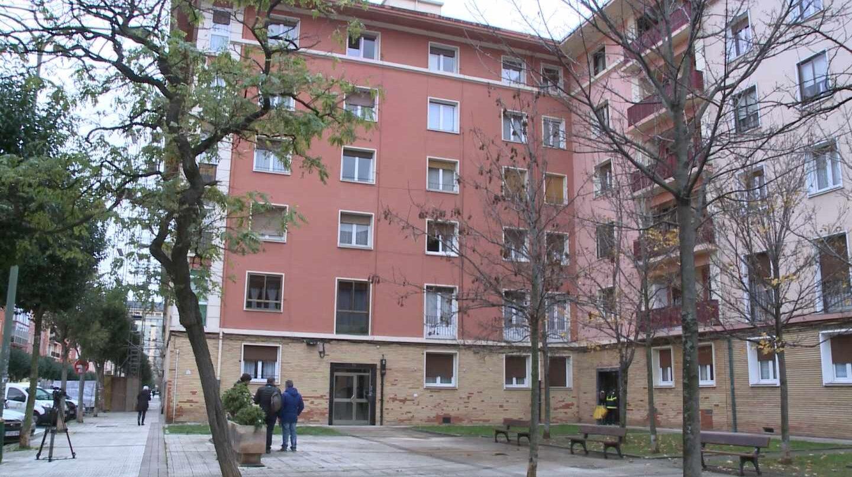 El domicilio de la anciana fallecida en Bilbao