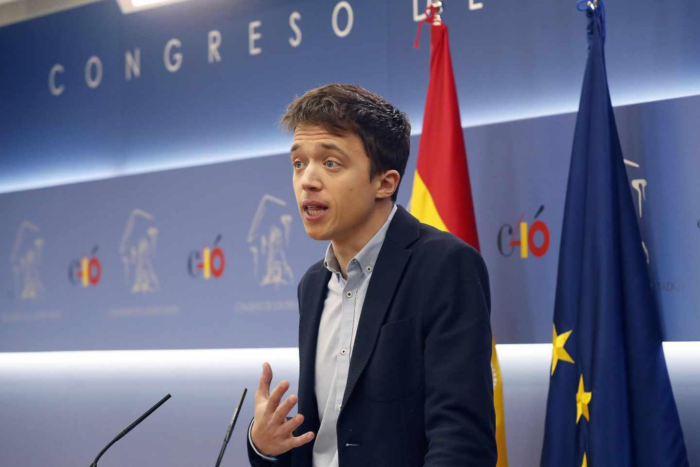 Íñigo Errejón, durante su despedida del Congreso de los Diputados.