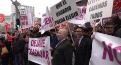 UGT lidera el primer escrache a Podemos