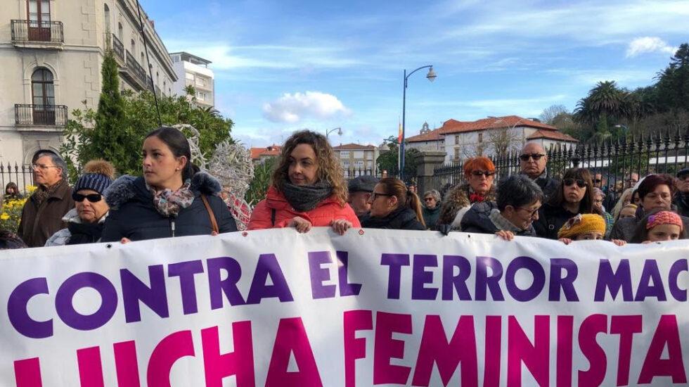 Manifestación en contra de la primera víctima de violencia machista de 2019.