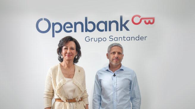Ana Botín, presidenta de Santander, y Ezequiel Szafir, consejero delegado de Openbank.