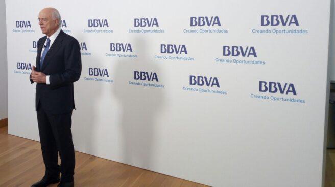 Francisco González, el pasado mes de marzo con motivo de la celebración de la junta del banco en Bilbao.
