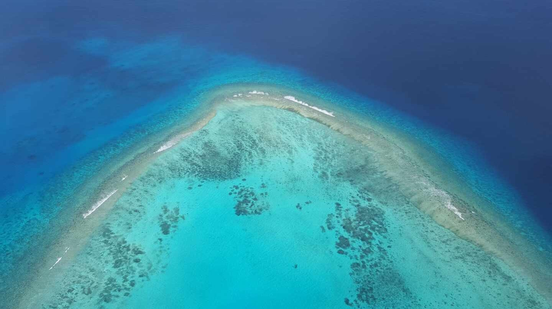 Las aguas de las profundidades del Océano Pacífico en Palaos (Micronesia).