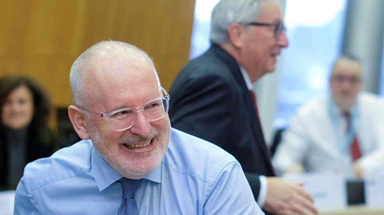 El vicepresidente primero de la Comisión Europea, Frans Timmermans.