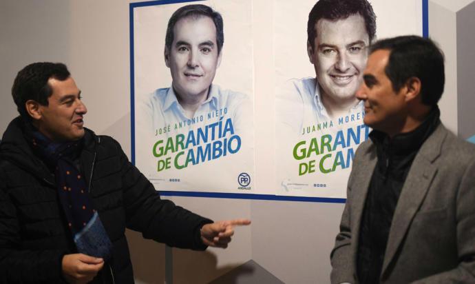 Juanma Moreno y José Antonio Nieto en una imagen de archivo