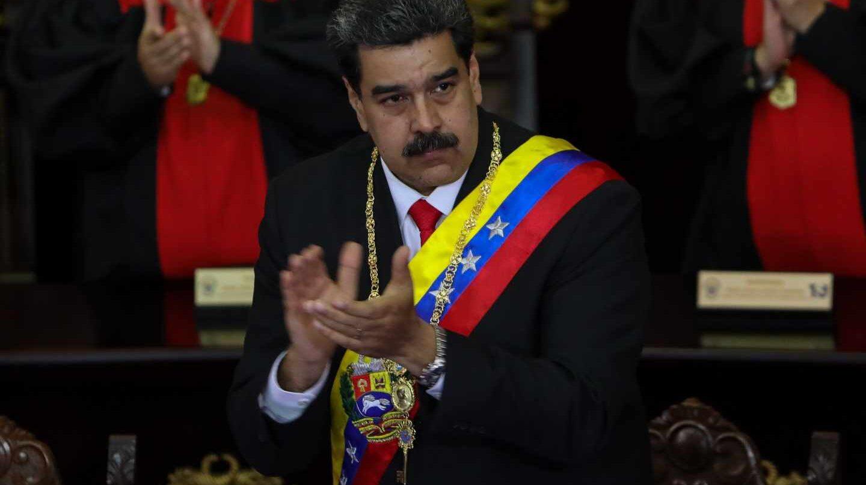 Nicolás Maduro, este jueves en su discurso ante el TSJ.