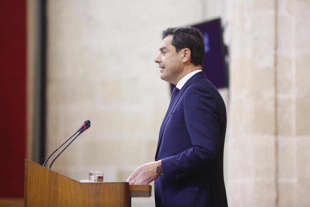 Discurso de investidura de Juanma Moreno en el Parlamento de Andalucía.