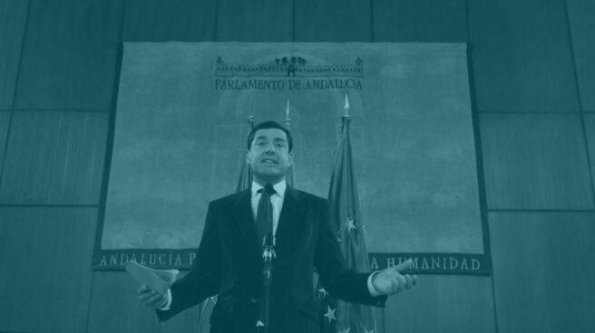 Juan Manuel Moreno Bonilla, en el Parlamento de Andalucía.