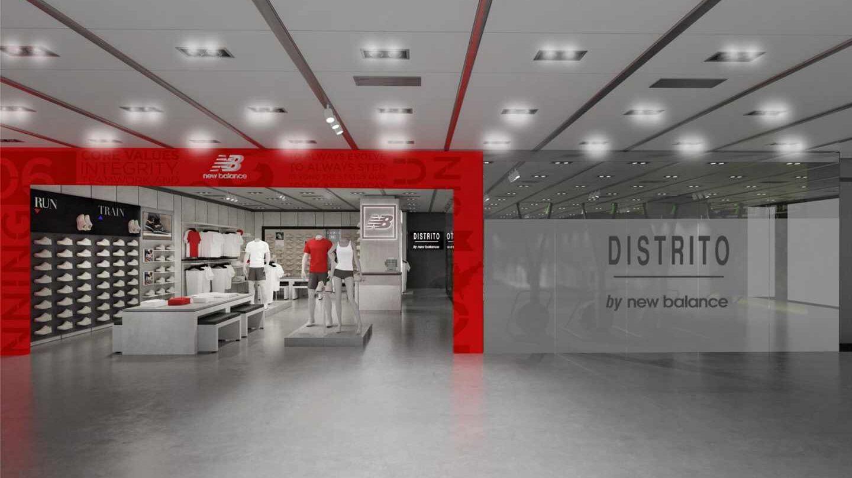 El nuevo formato 'Distrito by New Balance' se ubicará en El Corte Inglés de Avenida de Francia (Valencia).
