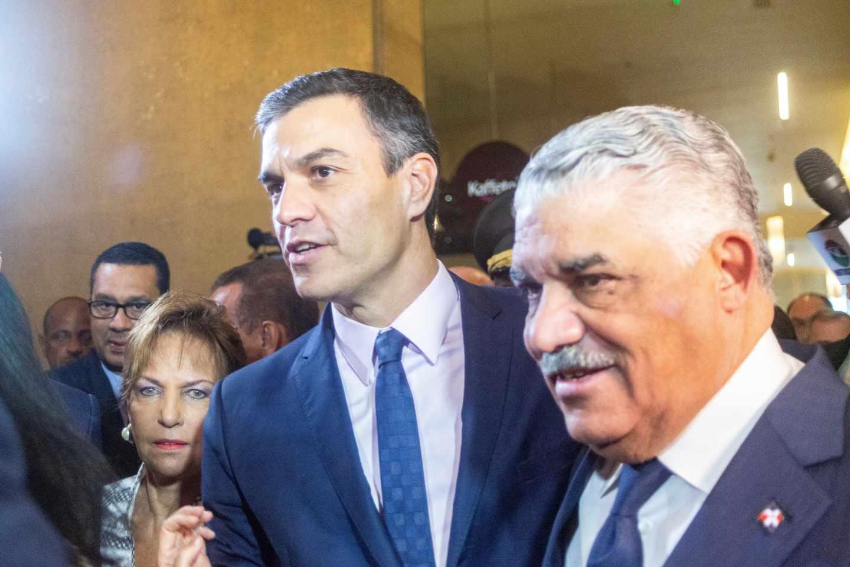 Pedro Sánchez, a su llegada a la Internacional Socialista en la República Dominicana.