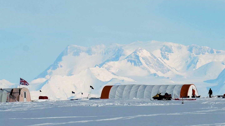 Base científica británica en la Antártida.