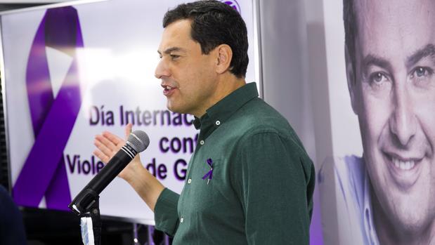 Juanma Moreno el pasado 25 de noviembre en un acto contra la violencia de género