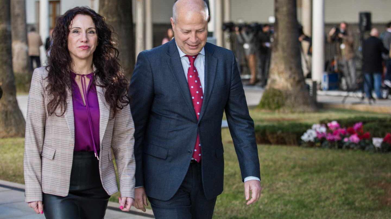 Rocío Ruiz y Javier Imbroda, consejeros de la Junta de Andalucía.