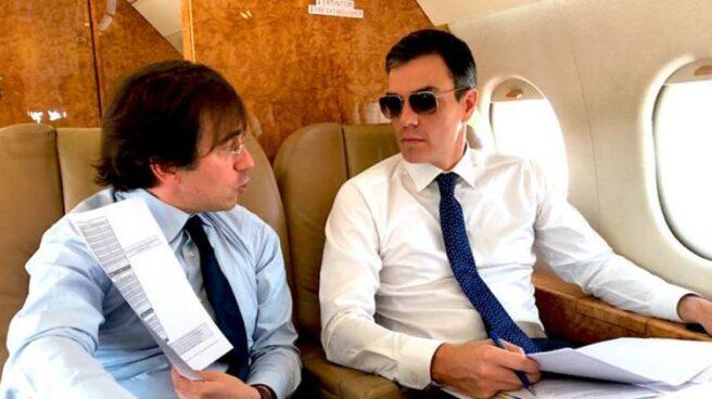 Pedro Sánchez, en uno de sus viajes oficiales desde que ocupa la Presidencia del Gobierno.