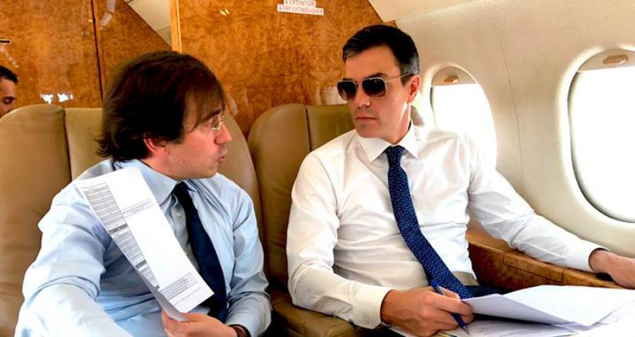 Chivas, whisky y Brandy: el Gobierno de Sánchez duplica el gasto en bebidas para el Falcon
