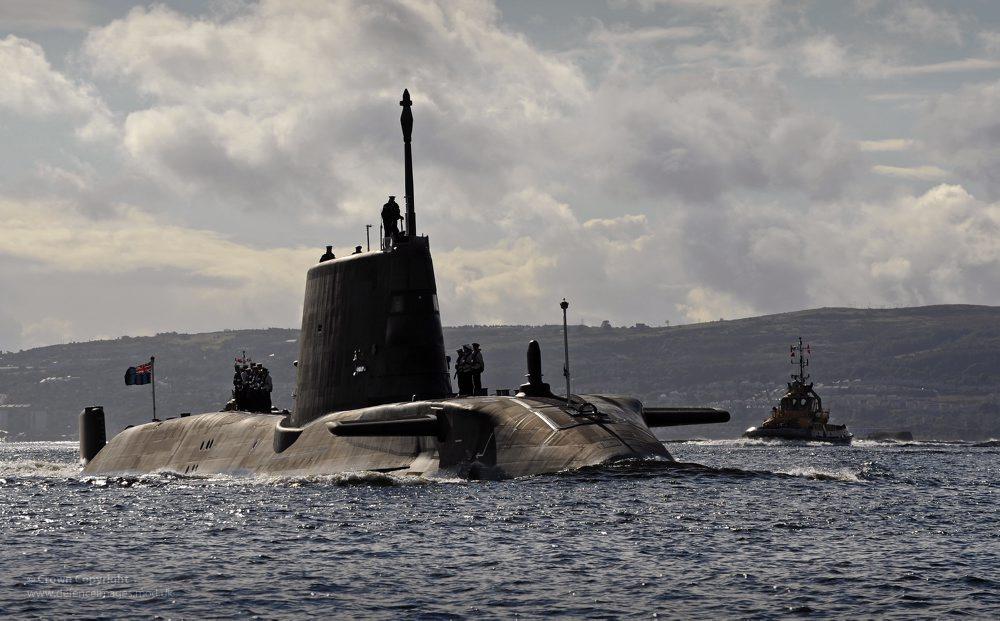 Submarino nuclear HMS Ambush, uno de los mayores de la Armada británica. Una de las unidades ha recalado en la base de Gibraltar.