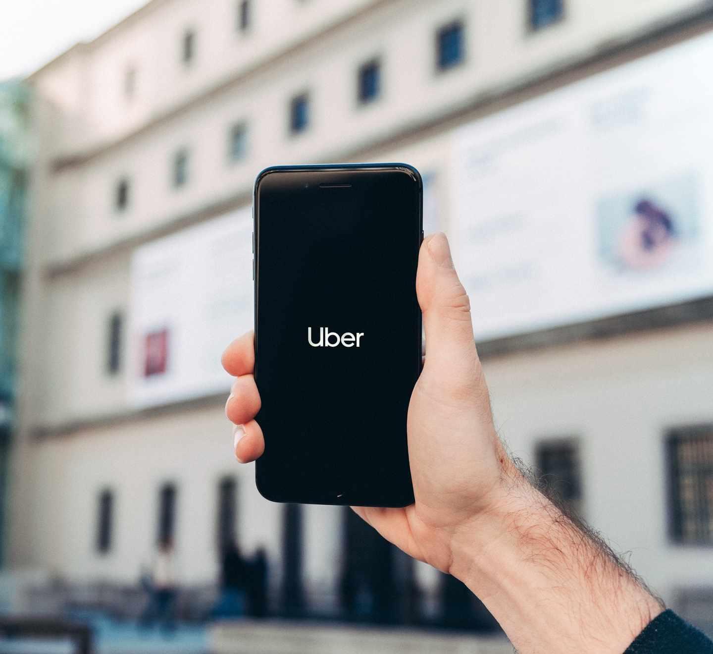 Imagen de la app de Uber.