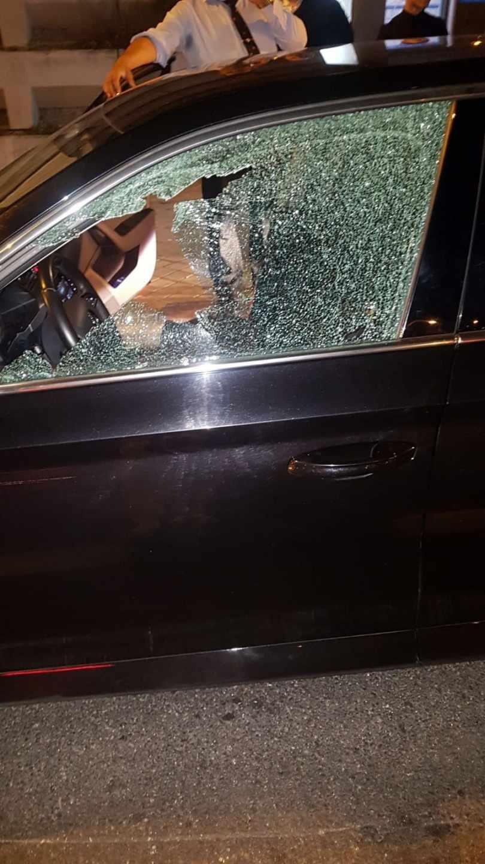 El estado del vehículo tras el incidente.