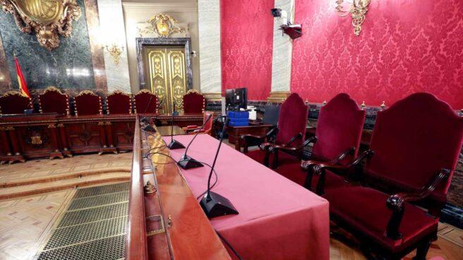 Sala del Supremo donde se celebrará el juicio al procés.
