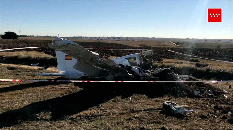 Fotografia de la avioneta accidentada facilitada por la Comunidad de Madrid