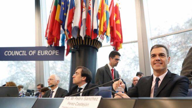 Pedro Sánchez, en el Consejo de Europa.