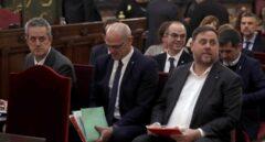 Juicio al 'procés': Joaquim Forn, Raül Romeva, Jordi Turull y Oriol Junqueras, en el banquillo de los acusados.