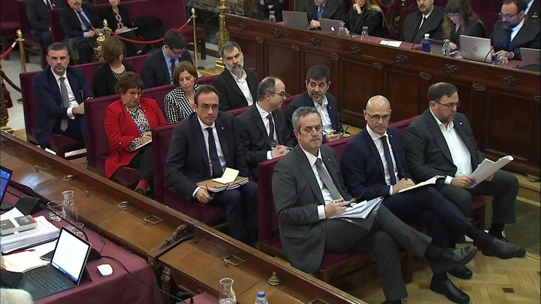 Los acusados del procés en la segunda sesión del juicio en el Supremo.