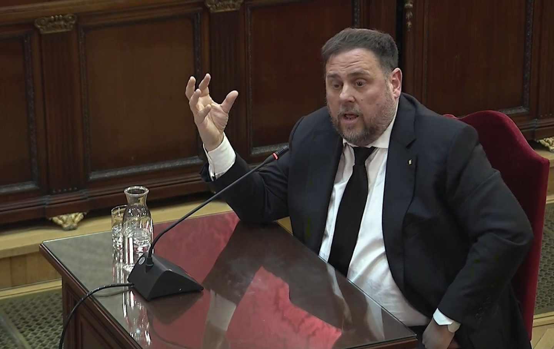 Juicio al procés: Oriol Junqueras, en el Supremo.