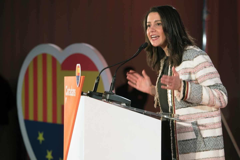 Inés Arrimadas, en un acto en Barcelona.